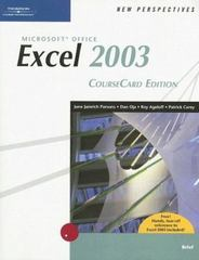 New Perspectives on Microsoft Office Excel 2003, Brief, CourseCard Edition 1st edition 9781418839055 1418839051