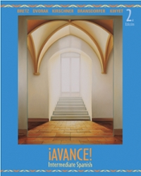 &#161.Avance!  Intermediate Spanish Student Edition 2nd edition 9780073513171 0073513172