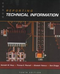 Reporting Technical Information 1st Edition 9780195146127 0195146123