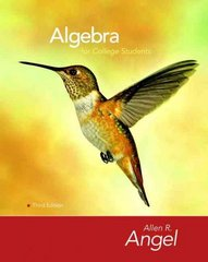 Algebra for College Students 3rd edition 9780136129080 0136129080