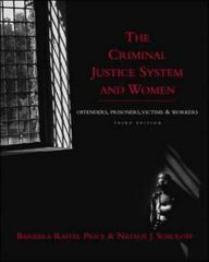 The Criminal Justice System and Women 3rd edition 9780072463996 0072463996