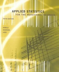 Applied Statistics for the Behavioral Sciences 5th edition 9780618124053 0618124055