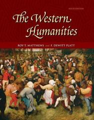 The Western Humanities, Complete 6th edition 9780073136196 0073136190