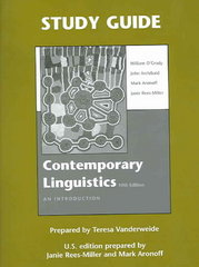 Study Guide for Contemporary Linguistics 5th edition 9780312417659 0312417659