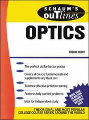 Schaum's Outline of Optics 1st Edition 9780070277304 0070277303
