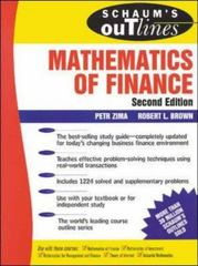 Schaum's Outline of  Mathematics of Finance 2nd Edition 9780071783477 0071783474