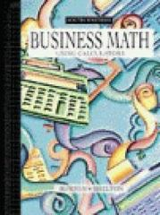 Business Math Using Calculators 3rd edition 9780538721776 0538721774