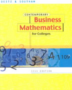 Contemporary Business Math for Colleges 13th edition 9780324042993 032404299X