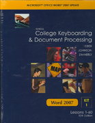 Gregg College Keyboarding and Document Processing Microsoft Office Word 2007 Update 10th edition 9780077212568 0077212568