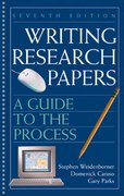 Writing Research Papers 7th Edition 9780312414436 0312414439