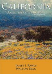 California: An Interpretive History with Map Poster 9th edition 9780073313269 0073313262