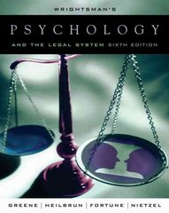 Wrightsman's Psychology and the Legal System 6th Edition 9780534521066 0534521061