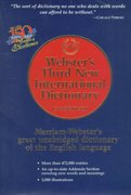 Webster's Third New International Dictionary 3rd edition 9780877792017 0877792011