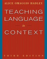 Teaching Language In Context 3rd edition 9780838417058 0838417051