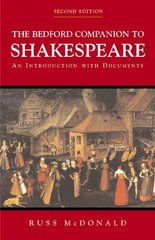 The Bedford Companion to Shakespeare 2nd Edition 9780312248802 0312248806