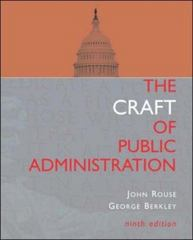 The Craft of Public Administration 9th edition 9780072817409 0072817402