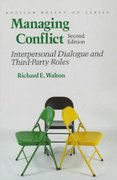 Managing Conflict 2nd edition 9780201088595 0201088592