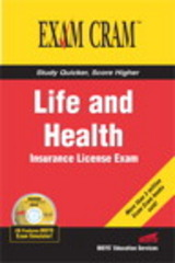 Life and Health Insurance License Exam Cram 1st Edition 9780789732606 0789732602