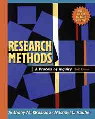 Research Methods 6th Edition 9780205484751 0205484751