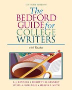 The Bedford Guide for College Writers With Reader 7th edition 9780312412548 0312412541