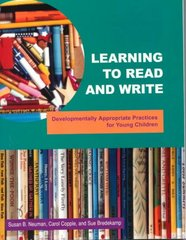 Learning to Read and Write 1st Edition 9780935989878 0935989870