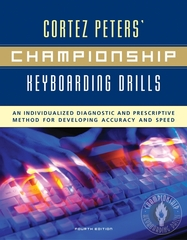 Cortez Peters' Championship Keyboarding Drills w/ Home Software &amp. User's Guide 4th Edition 9780073010946 0073010944
