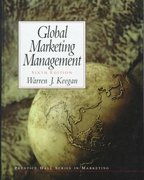 Global Marketing Management 6th edition 9780139030239 0139030239
