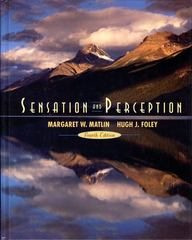 Sensation and Perception 4th edition 9780205263820 0205263828