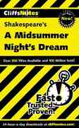 CliffsNotes on Shakespeare's A Midsummer Night's Dream 1st edition 9780764586729 0764586726