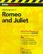 CliffsComplete Romeo and Juliet 1st Edition 9780764585746 0764585746