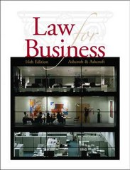 Cengage Advantage Books: Law for Business 16th Edition 9780324381573 0324381573