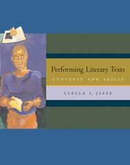 Performing Literary Texts 1st edition 9780534620011 0534620019