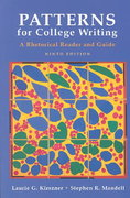 Patterns for College Writing: A Rhetorical Reader and Guide 9th edition 9780312404314 031240431X