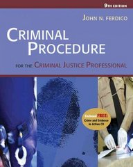 Criminal Procedure for the Criminal Justice Professional (with CD-ROM and InfoTrac ) 9th Edition 9780534629199 0534629199