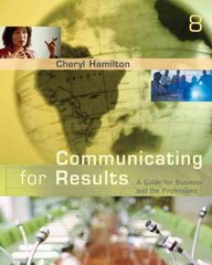 Communicating for Results 8th Edition 9780495095842 0495095842