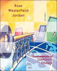 Fundamentals of Corporate Finance 6th edition 9780072469745 0072469749
