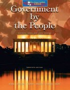 Government by the People, National, State, and Local, Election Update 20th edition 9780131938861 013193886X