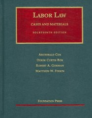 Labor Law 14th edition 9781599410616 1599410613