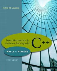 Data Abstraction & Problem Solving with C++ 5th edition 9780321433329 0321433327