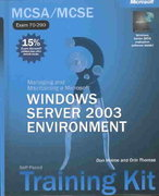 Managing and Maintaining a Microsoft Windows Server 2003 Environment 0 9780735614376 0735614377