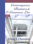 Contemporary Business and E-Commerce Law 4th Edition 9780130348524 013034852X