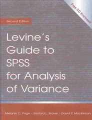 Levine's Guide to SPSS for Analysis of Variance 2nd Edition 9780805830965 0805830960