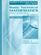 Basic Technical Mathematics with Calculus, SI Version 8th edition 9780321307545 0321307542