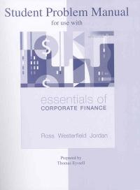 Essentials of corporate finance 6th edition homework manager
