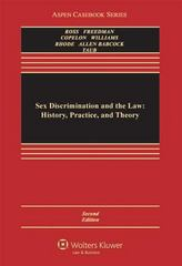 Sex Discrimination and the Law 2nd edition 9780316074889 0316074888
