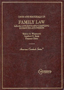 Cases and Materials on Family Law 2nd edition 9780314042002 0314042008