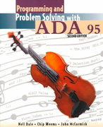 Programming And Problem Solving With Ada 95 2nd edition 9780763707927 0763707929