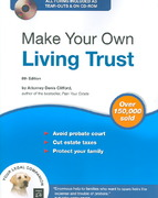 Make Your Own Living Trust 8th edition 9781413305692 1413305695