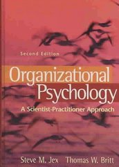 Organizational Psychology 2nd edition 9780470109762 0470109769