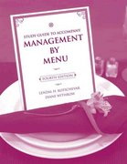 Study Guide to accompany Management by Menu, 4e 4th Edition 9780470140536 0470140534